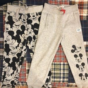 Gap Mickey Mouse Sweatpants - Size 5 (set of 2)